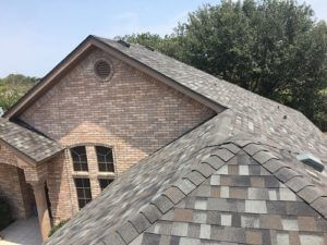 image of an asphalt roofing work completed